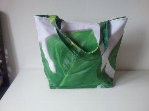 Borsa di tela bianco-verde