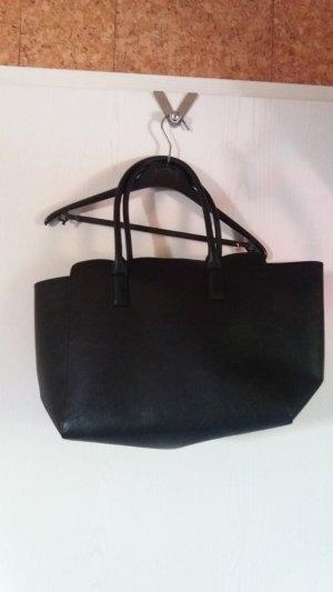 HM Shopper black imitation leather
