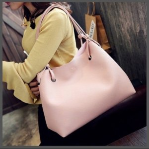 Carry Bag pink-dark grey
