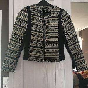 Short-Blazer von H&M schwarz-weiß Boho-Muster in Größe XS