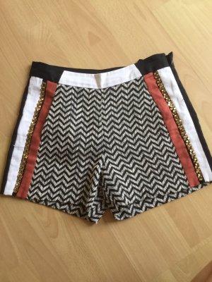 Morgan High-Waist-Shorts multicolored
