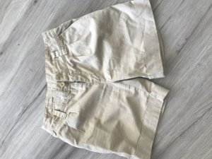 Closed High-Waist-Shorts gold-colored cotton