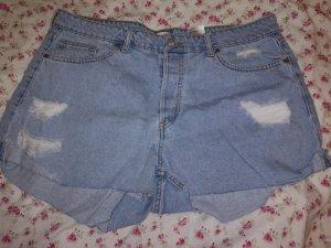 H&M Short en jean bleu pâle