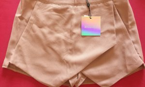 Missguided Gonna culotte color oro rosa