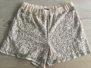 Short Pailetten Vila Clothes Gr. M apricot nude