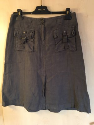 Marc O'Polo Linen Skirt anthracite
