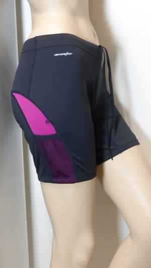 New Balance Pantalon de sport noir-magenta tissu mixte