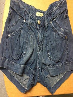 H&M Denim Shorts steel blue-cornflower blue