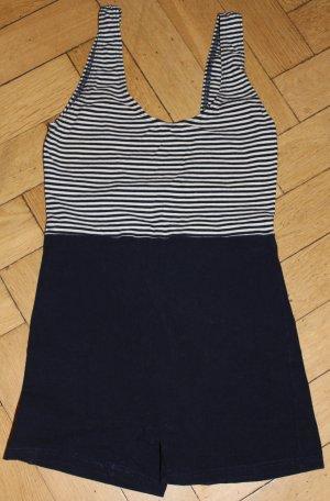 Beachwear white-dark blue cotton