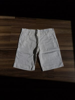 Short taille haute blanc coton