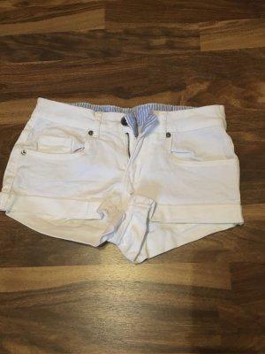 Primark Denim Shorts white cotton