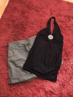 Shorts 44 neckholder top schwarz