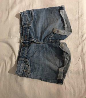 C&A Pantalón corto de tela vaquera azul celeste