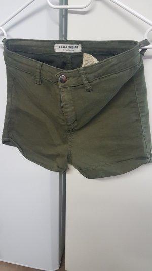 Tally Weijl Shorts grigio-verde