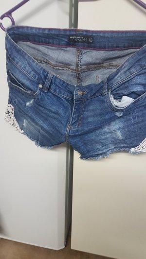 Blind Date Short en jean bleu