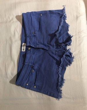 Roxy Pantalón corto de tela vaquera azul acero