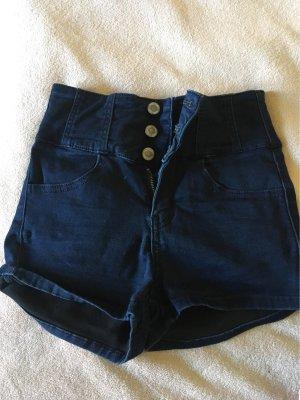 Tally Weijl High-Waist-Shorts dark blue