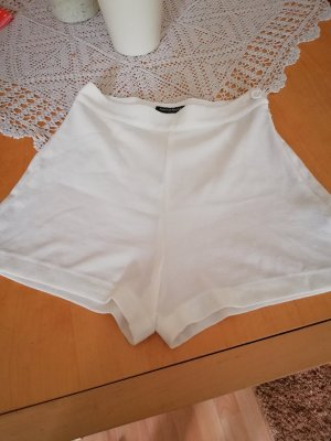 American Apparel Short taille haute blanc cassé tissu mixte