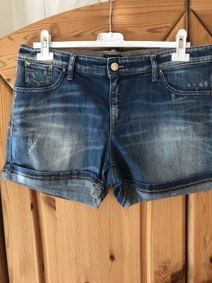 Armani Jeans Spijkershort staalblauw-blauw