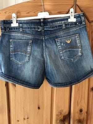 Armani Jeans Denim Shorts steel blue-blue