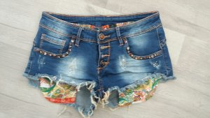 Shorts azul Algodón
