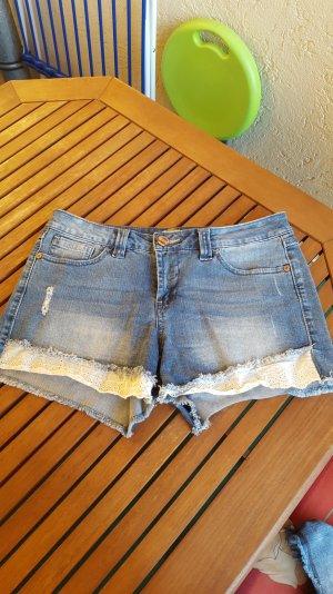 shorts aus jeans von only