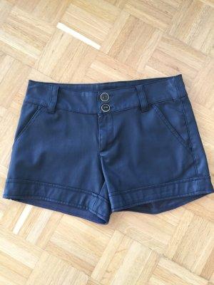 Shorts aus Lederimitat Amisu 34 schwarz