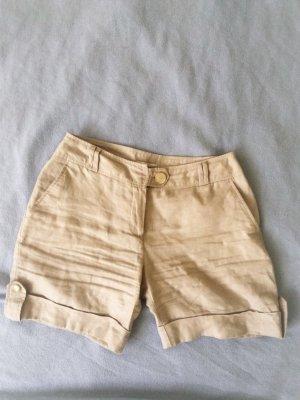 Orsay Shorts pale yellow-oatmeal linen