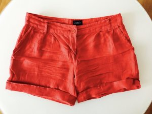Shorts aus Leinen in rot