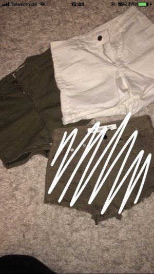 Tally Weijl High-Waist-Shorts white-khaki