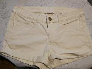 HM Pantalón corto de tela vaquera beige