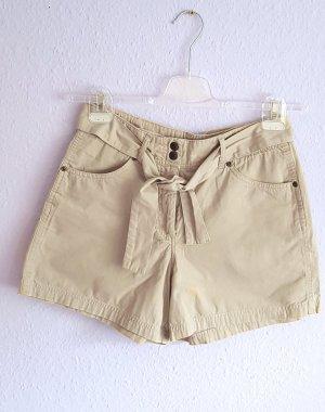Shorts Beige Nude Gürtel Gr. 36/38