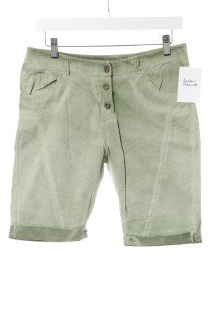 Shorts verde pálido-verde claro degradado de color Estilo playero