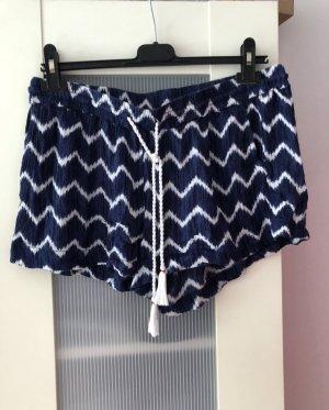 Shorts blau weiß Batik