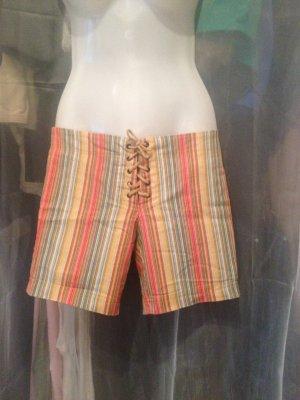 Shorts bunt Gr. 34 mit Corsagenschnürung