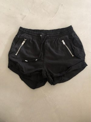 H&M Divided Hot pants nero-argento