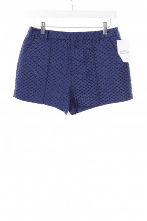 Shorts dunkelblau Monogram-Muster Glitzer-Optik