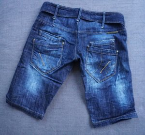 Fornarina Denim Shorts dark blue