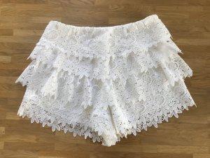 Shorts - gehäkelt - weiß