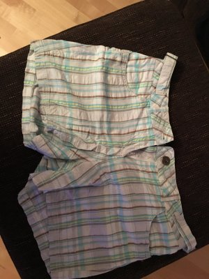Shorts gemustert hellblau