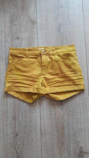 shorts h&m gr. 38 senfgelb