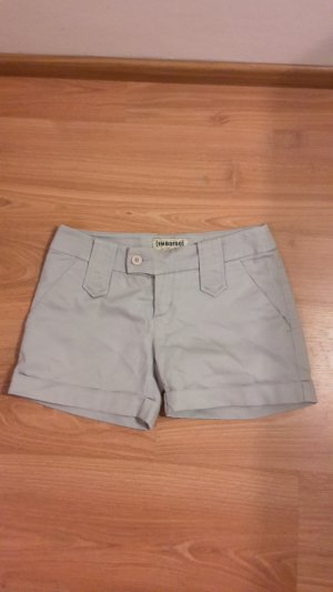 Short Trousers silver-colored cotton