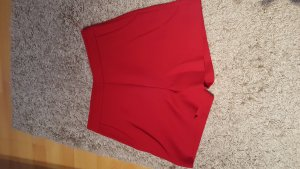 shorts high waist von hallhuber in rot