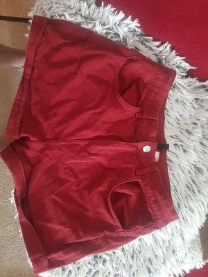 shorts high waist weinrot