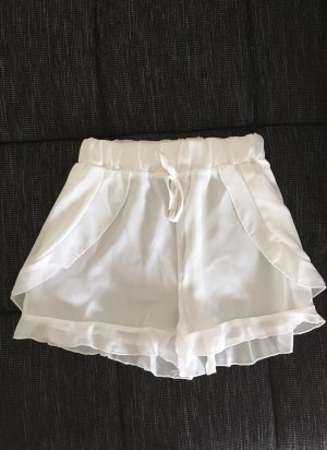 Shorts High Waist Weiß 34 XS Hose