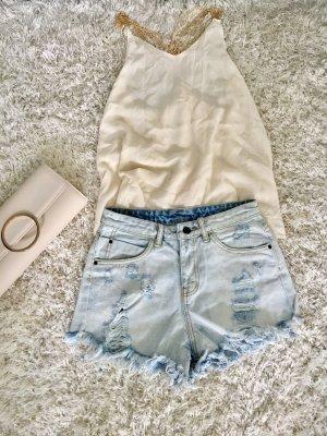Shorts Hose Jeans Jeansshorts Neu S hellblau Sommer Strand Urlaub