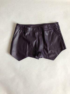 Shorts rojo zarzamora-violeta amarronado Imitación de cuero