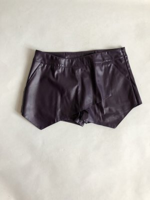 Shorts rosso mora-marrone-viola Finta pelle