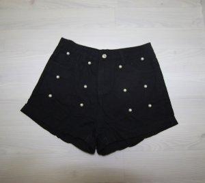 Pantalone corto nero-bianco