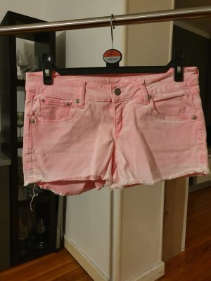 Mango Jeans Hot Pants neon pink